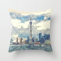 canada Throw Pillows featuring Ontario Canada by Moonlake Designs