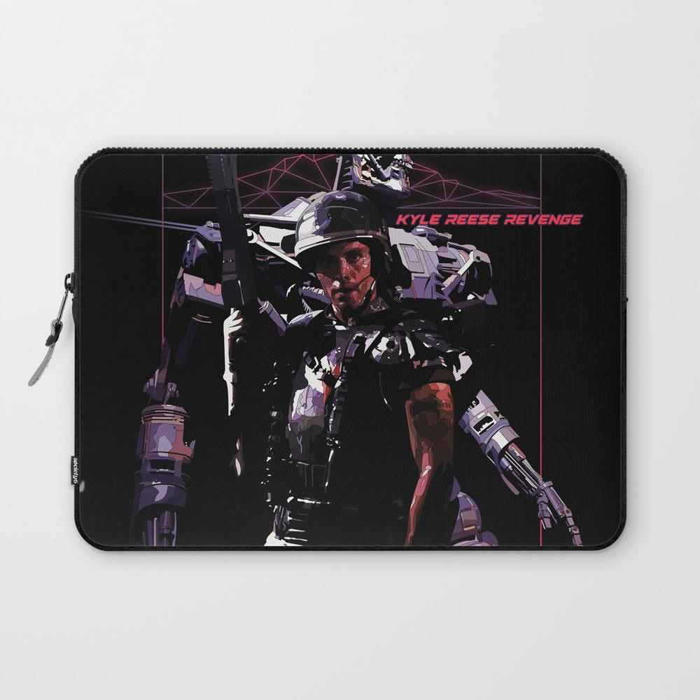 Kyle Reese Revenge Aliens Terminator 80s Synthwave Laptop Sleeve LSV8539000