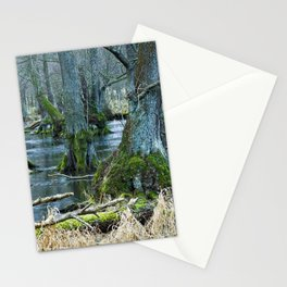 Trees in Frosen Water Stationery Cards