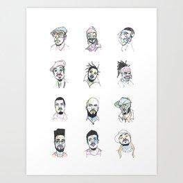Twelve Rappers Art Print
