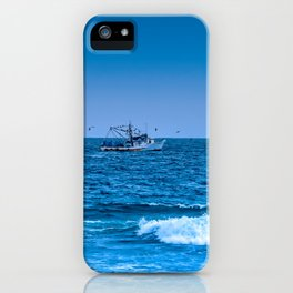 Deep Blue Fishing iPhone Case