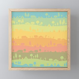 Camping Framed Mini Art Print