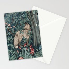 William Morris Forest Fox Greenery apestry Stationery Cards
