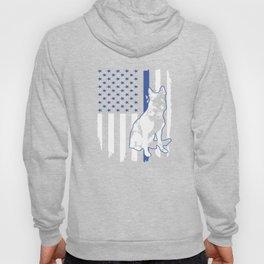 K-9 Dog Police Officer American Flag Apparel USA Thin Blue Line Gift Hoody