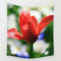 tulips Wall Tapestries featuring tulips by Falko Follert Art-FF77