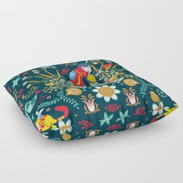 Technological folk art Floor Pillow