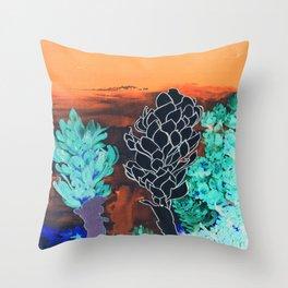 DESERT NIGHT Alpinia Purpurata Throw Pillow
