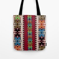 kilim Tote Bags featuring Kilim pattern 026 by Ranka Stevic