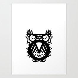 Mr. Tw Cen MT Owl Art Print