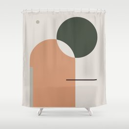 Abstract Composition 10 Shower Curtain