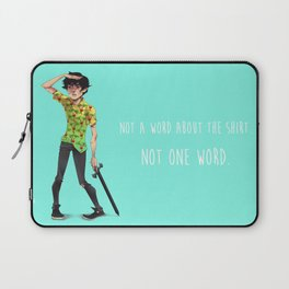 Not One Word Laptop Sleeve
