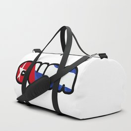 Cuba Font with Cuban Flag Duffle Bag