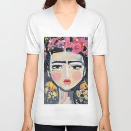 Fine Frida Unisex V-Neck
