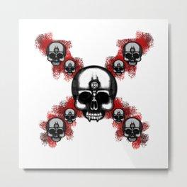Original Errorface Skull cross Metal Print