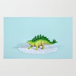 Doily Stegosaurus Rug