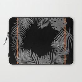 TROPICAL SQUARE COPPER BLACK AND GRAY Laptop Sleeve