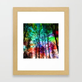 colorful abstract forest Framed Art Print