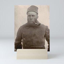 Bearded Ship Captain with Pipe - Vintage Photo Mini Art Print