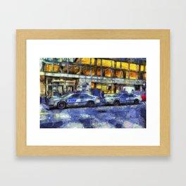 New York police Department Van Gogh Framed Art Print