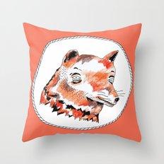 Bearded Fox  Throw Pillow