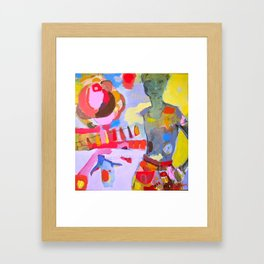 i'd get up close to it if it wouldn't cook me Framed Art Print