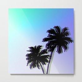 Retro Palm Trees Jungle Metal Print