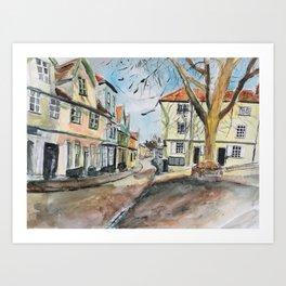 Elm Hill Art Print