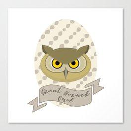 Señora Owl Canvas Print