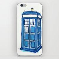 tardis iPhone & iPod Skins featuring Tardis by Stepharooskie