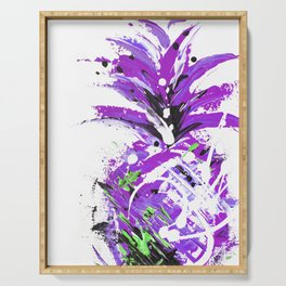 Violet Vacation pineapple Serving Tray