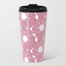 Candy cane flower pattern 8 Travel Mug
