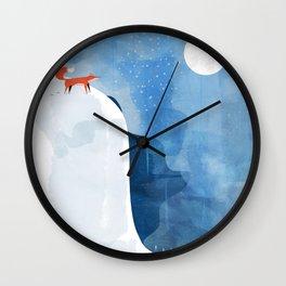 Fox In Nowhere Land Wall Clock