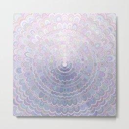 Pale Flower Mandala Metal Print
