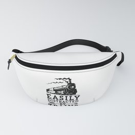 Steam Engine Locmotive Gift Easily Distracted By Trains Fanny Pack