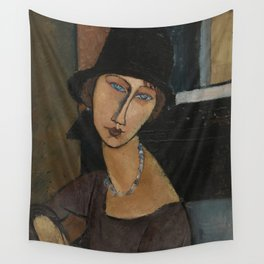 Modigliani - Jeanne Hebuterne With Hat And Necklace Wall Tapestry
