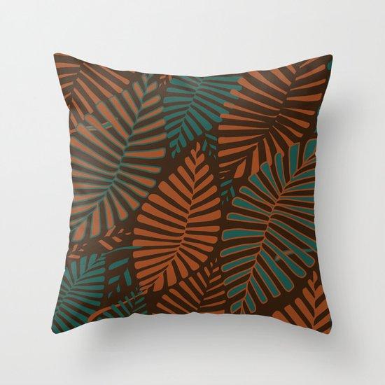 ORGANIC LEAVES Throw Pillow