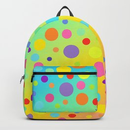 Gorgeous Rainbow Gradient with Colorful Polka Dots Backpack