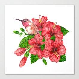 Tropical bouquet Canvas Print