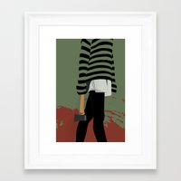 there will be blood Framed Art Prints featuring blood by Eda ERKOVAN
