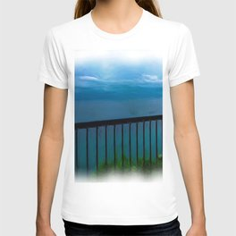 view of the infinite blue sea oil painting T-shirt