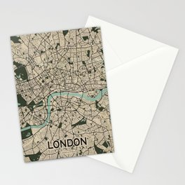 London City Map of England - Vintage Stationery Cards