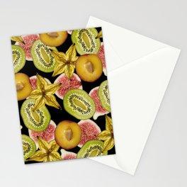 Fruits pattern Starfruit nectarine kiwi figs #fruits Stationery Cards