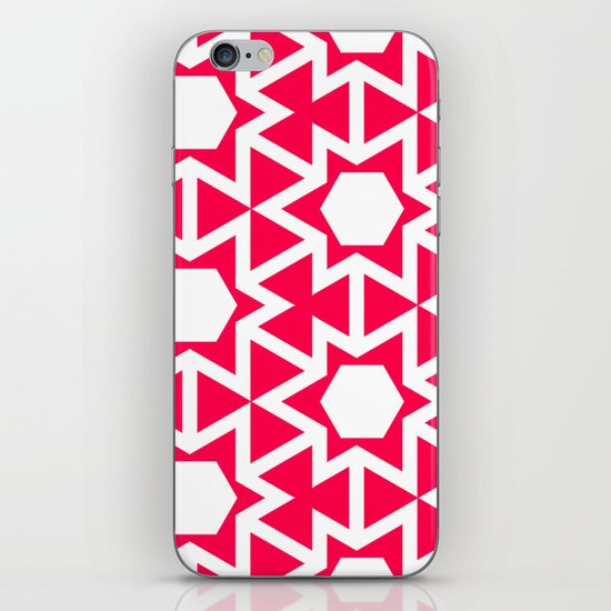 Zoutman Neon Pink Pattern iPhone Skin