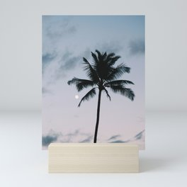 palm + moon Mini Art Print