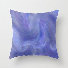 Sky Swirl Throw Pillow