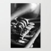 trumpet Canvas Prints featuring Trumpet by Falko Follert Art-FF77