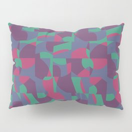 Retro-Inspired Geometric Pattern in Desaturated Jewel Tones Pillow Sham