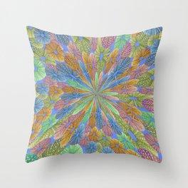 Sea-shell starburs pattern Throw Pillow