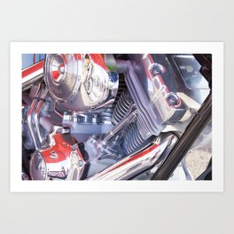 Chromed motorbike engine Art Print