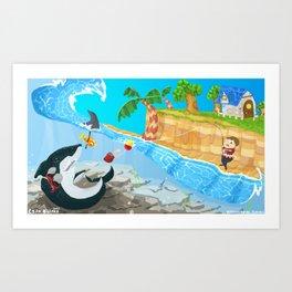 Animal Crossing - Fishy Tale Art Print